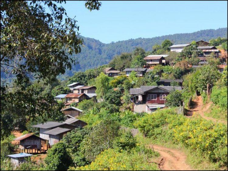 bergdorp in Thailand