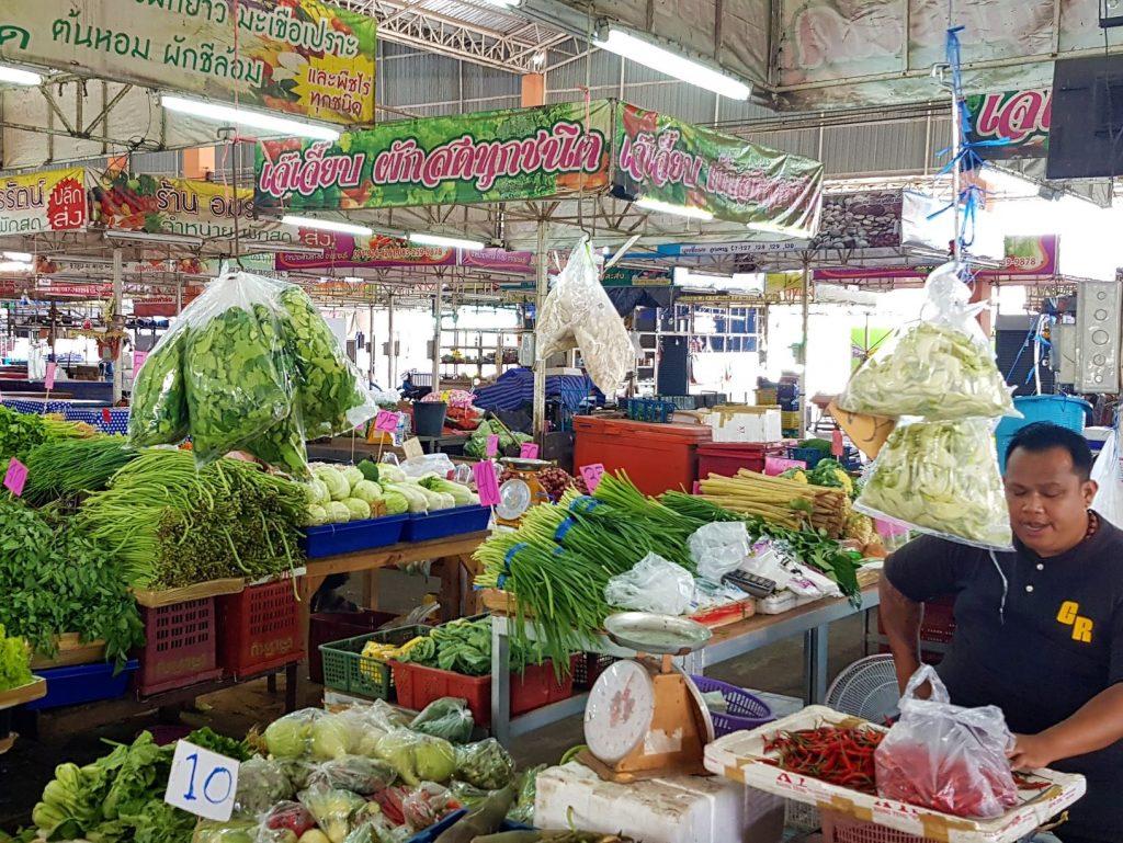op een Thaise markt