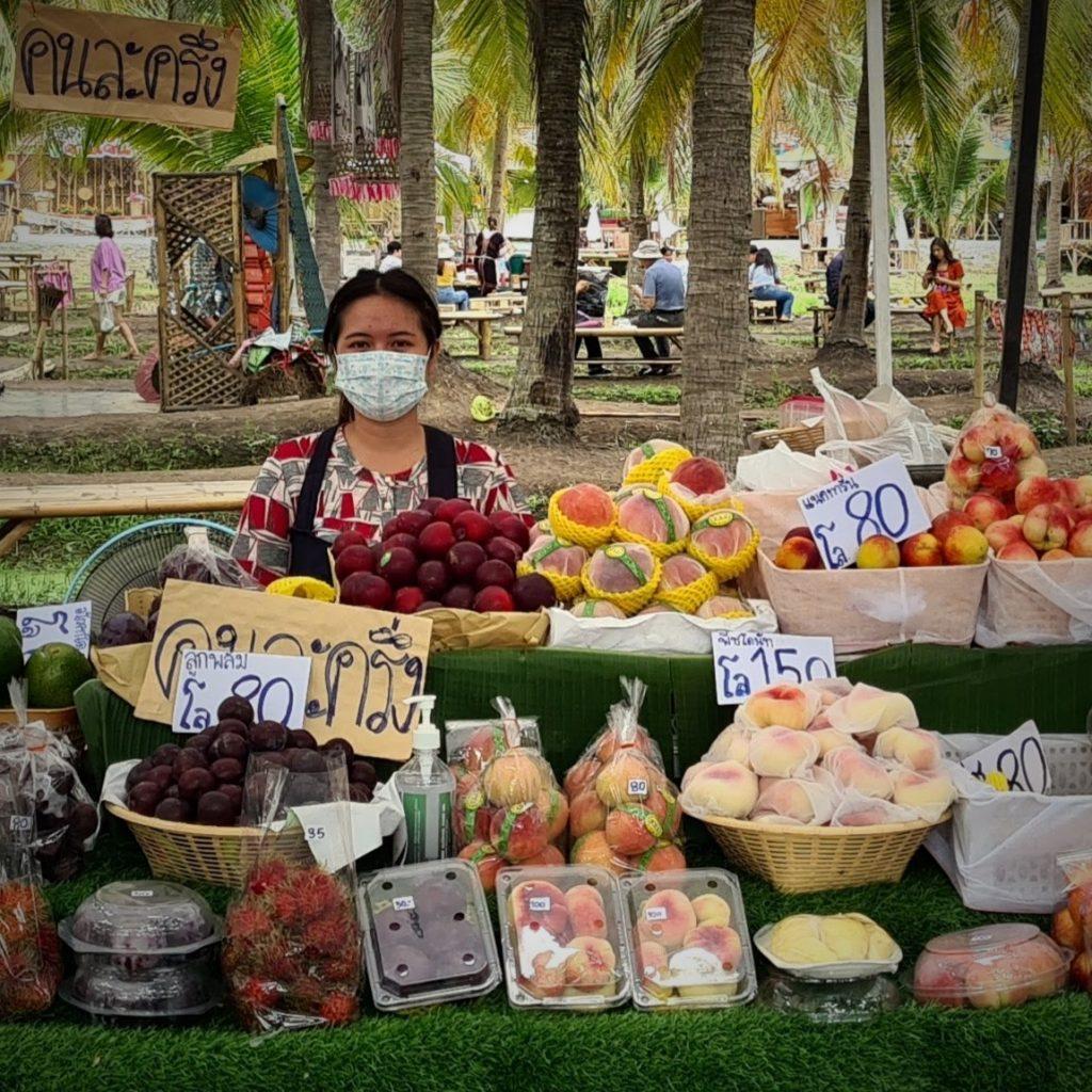 Een van de vele markten in de stad Chiang Mai