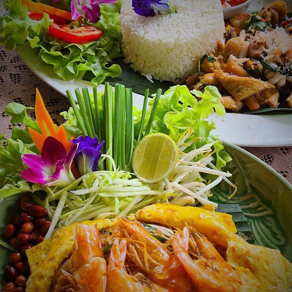 De heerlijke gerechten van de Thaise keuken