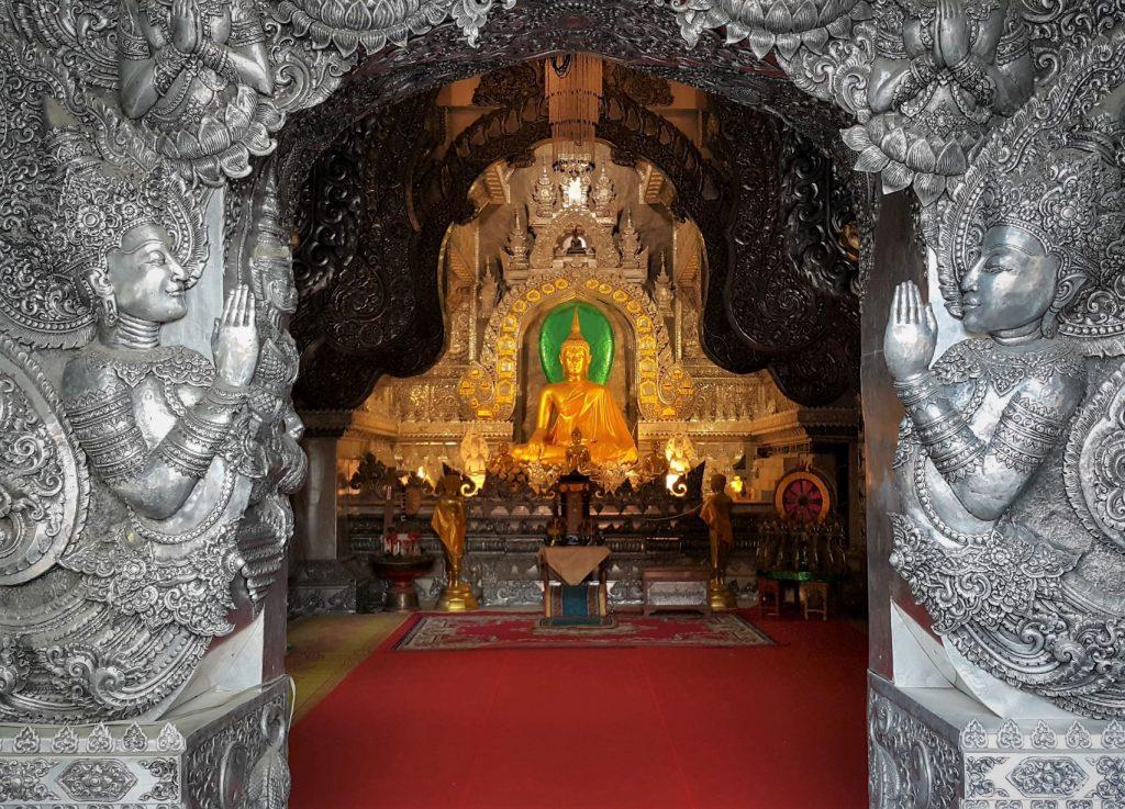 De zilvertempel in Chiang Mai